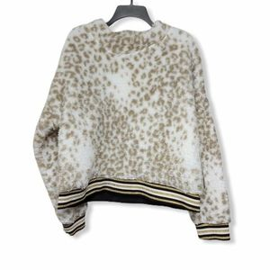 NWT Nanette Lepore Snow Leopard Teddy Pullover